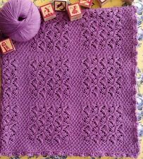 Babies Childrens Beautiful Textured Lace Blanket Afghan Knitting Pattern