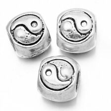 100pcs Antique Silver Alloy Gossip Patterns Beads European Charms Jewelry Bulk C
