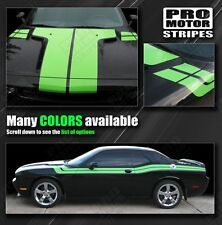 Dodge Challenger Hood, Fender & Side Dual Stripes 2011 2012 2013 2014 Pro Motor