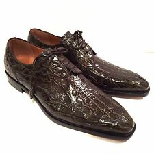 Y-1002325 New Mezlan Crocodile Alligator Skin Oxfords Dress Shoes Size 10.5