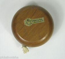 Vintage Yo-Yo Walnut Wooden exec-u-toy Solid Wood Working 3 7/8 Inch Yo Yo Toy