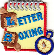 """LETTER BOXING"" -  Iron On Embroidered Patch - Hobby - Game - Treasure Hunting"
