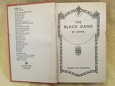 "BULLDOG DRUMMOND: THE BLACK GANG - Cyril McNeile - ""Sapper"" 1936 Hardcover"