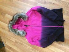 Lululemon Size 12 NWOT Pink Purple Ombré Scuba Hoodie Special Edition Faux Fur