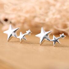 Plain 925 Silver Star Earrings 925 Silver Stud Earrings For Women Jewelry