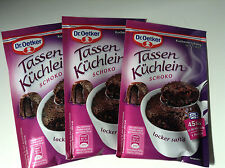 Dr Oetker Chocolate Mug Cake Mix Tri-Pack 3 Puddings to Microwave in 45 seconds