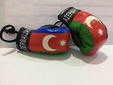 Mini Boxing Gloves - Azerbaijan Flag - for hanging to home, office or car. NEW!