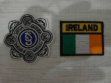 Set: 2 Patch Irelands National Police Service An Garda Siochana Headquarters New