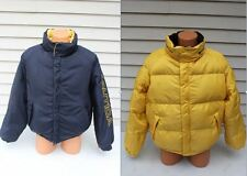 Nautica Mens M 100% Duck Down Winter Ski Coat Reversible Jacket Puffy Puffer