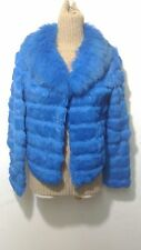 new design 100% real rabbit with fox fur coat full pelt