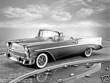 1956  Chevrolet Belair Convertible press photo 8 x 10 Photograph