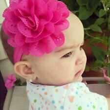 Baby Girl Kid Elastic Flower Turban Bowknot Headband Bow Headwrap Hair Band Rose