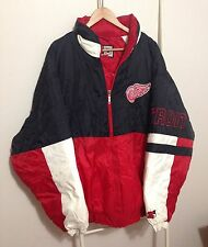 Vtg Starter Detroit Red Wings Jacket Size Men's XXL 2XL Zip Up NHL Winter Coat