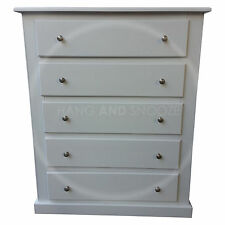 HANDMADE DEWSBURY FURNITURE 5 DRAWER CHEST  WHITE(ASSEMBLED)