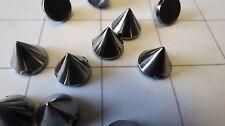 """12mm or 1/2"""" Gunmetal Plastic Sew on Spike Stud 40 Pkg (C-9)"""