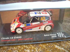 DIE CAST CITROEN C2 S1600 S. OGIER J. INGRASSIA RALLY MEXICO 2008
