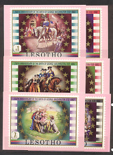 Lesotho 1982 WASHINGTON/Horses/Dog postcards (6)(a10)