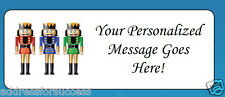 60 Personalized Colorful Nutcrackers Christmas Return Address Labels