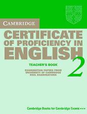 Cambridge Certificate of Proficiency in English 2 Teacher's Book: Examination pa