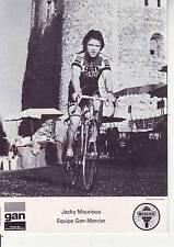 CYCLISME carte cycliste JACKY MOURIOUX équipe GAN MERCIER 1976