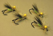 4 Stonefly Atlantic Salmon Flies - Tied on Double Hooks