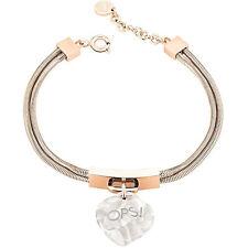 Original OPS Armband LUX MARBLE Damen Rose gold Weiss - OPSBR-362