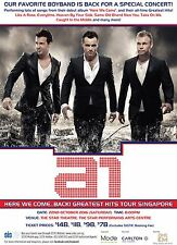 """A1 """"HERE WE COME...BACK! GREATEST HITS TOUR"""" 2016 SINGAPORE CONCERT POSTER- Pop"""