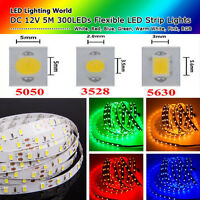 DC 12V 5M SMD 5050 3528 5630 Wasserdicht RGB LED Strip Lights Flexible LEDS Lamp