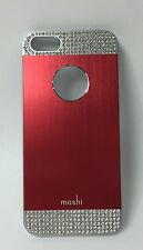 moshi iGlaze armour aluminum Case w/ Rhinestone Detail for iPhone 5/5S - Red