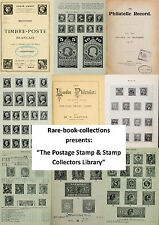 213 RARE BOOKS ON STAMPS & STAMP COLLECTING, GB PENNY BLACK, ALBUM, TIMBRE ~ DVD