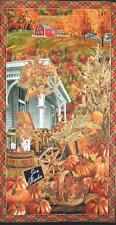 Fall Scenic Autumn CountryHarvest Porch Scene Timeless Treasures Fabric Panel