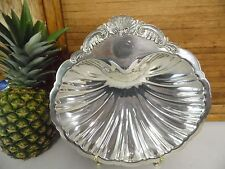 """Vintage DODGE L.A. FOOTED SILVER PLATE SHELL SERVING BOWL DISH~11"""""""