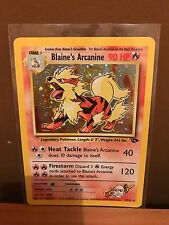 Blaine's Arcanine (1/132) Gym Challenge Holo Pokemon Card. Near Mint Condition