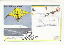 Rare 1st Kite Mail Flight Signed Added Black RAF Museum Backstamp Certified