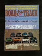 Road & Track Aug 1975 Toyota Celica GT - Chevy Vega - Honda Civic - VW Scirocco