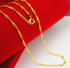 Classic hot sell Dainty Gold Filed Stunning Vogue Thin Link Chain Necklace