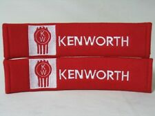 Embroidery Kenworth Seat Belt Cover Shoulder Pads Pair