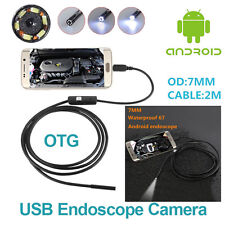 7mm Risepro Endoscope Borescope USB OTG Andriod Phone Inspection Camera 2m