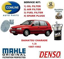 FOR DAIHATSU CHARADE 1.3 1987-1993 OIL AIR FUEL FILTER + SPARK PLUGS SERVICE KIT