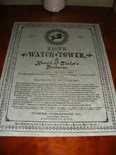 Zion's Watch Tower 1891 Watchtower C.T. Russell Bible Students