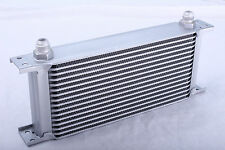 16 Row Oil Cooler 3/4 16 UNF Universal Racing Kit Engine Alloy Race Silver NEW