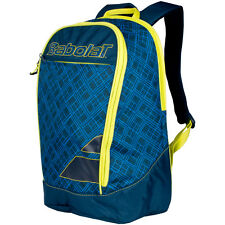 BABOLAT CLUB CLASSIC BLUE YELLOW CLUB LINE BACKPACK FOR TENNIS OR TRAVEL  2017