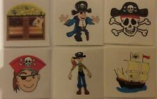 12 Pirate Temporary Tattoos - Boys Party Loot bag stocking fillers