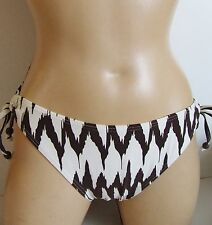 NEXT CREAM BROWN ANIMAL TIGER PRINT KEYHOLE SIDE BIKINI BRIEFS BOTTOMS SIZE 14