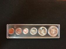 1967 Canada Centennial 6 Coins Silver Uncirculated Set In Hard Plastic Case
