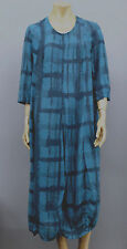 RISONA BY TOMO EUROVISCOSE 3/4 SLEEVE BALLOON DRESS DEEP TEAL Sz 2 US 14 $410