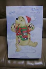 Winnie Pooh Tangled Christmas Lights LED Plaque Figurine Disney Precious Moments