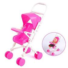 Assembly Baby Stroller Trolley Dollhouse Nursery Furniture Toy For Barbie Doll