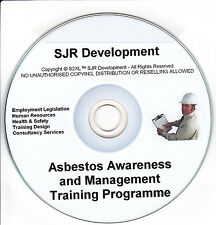 Amiante control & sensibilisation record keeping safety training materials resource