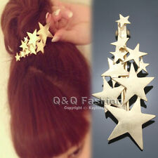 Blogger Fav Gold Shooting Star Hair Pin Clip Cuff Wrap Claw Snap Barrette Bridal